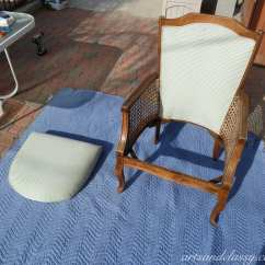 How To Replace Cane Back Chair With Fabric Repair Rattan Seat Diy Tutorial Makeover In 10 Steps Arts