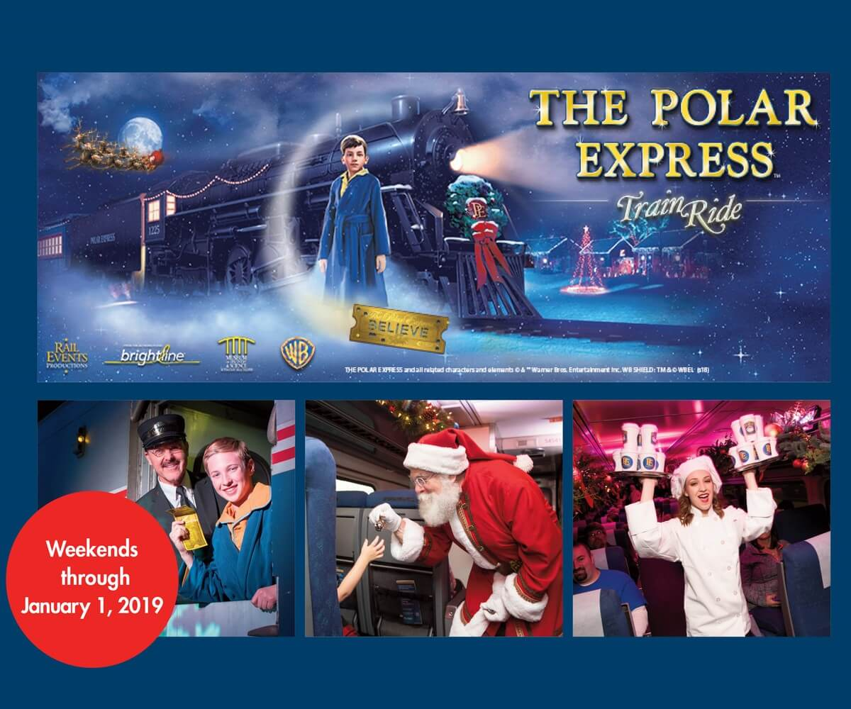 The Polar Express Train Ride At Brightline S Fort