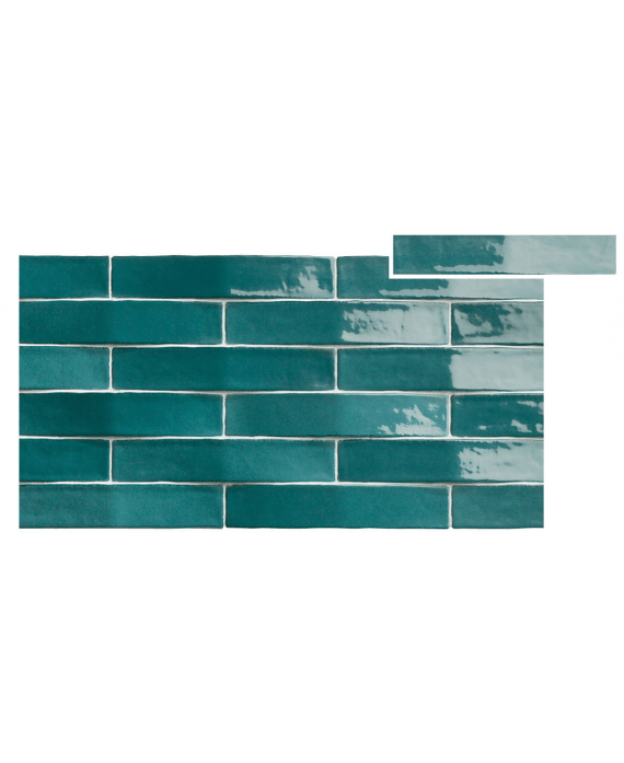 carrelage convex bleu turquoise