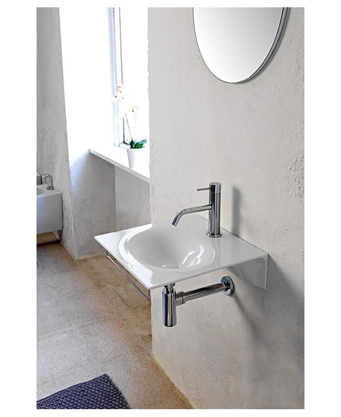mitigeur lavabo spillotech chrome blanc f3031xsxbs