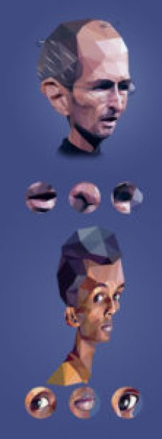 Low Poly portraits2