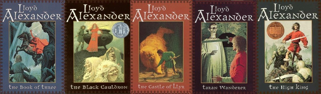 "The five volumes of ""The Chronicles of Prydain"""