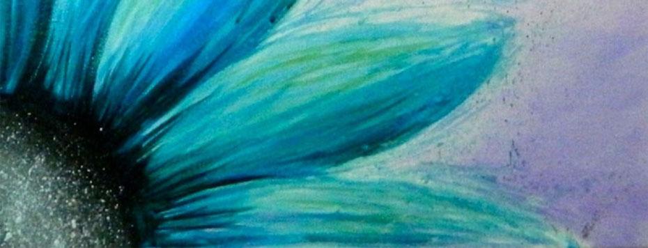 Painting and Vino: Blue Sunflower