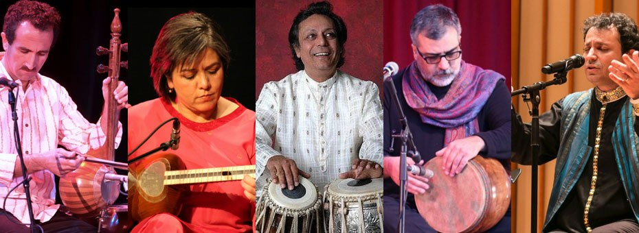 MUSIC | Noor (meaning light), The Path of Light is a collaboration with Pandit Swapan Chaudhuri, a leading tabla master of our time and the Lian Ensemble, the virtuosic Iranian musical group featuring Houman Pourmehdi, Pirayeh Pourafar, Alireza Shahmohamadi, and Mani Bolouri.