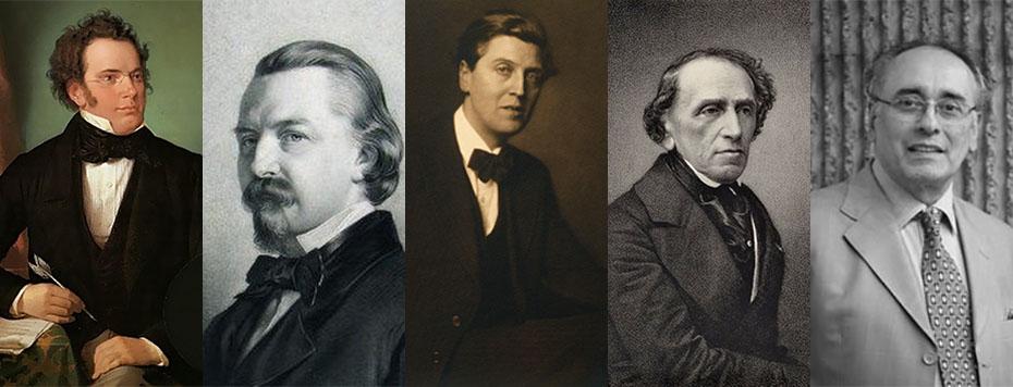 Schubert, Kücken, Berg, Meyerbeer, Rivas