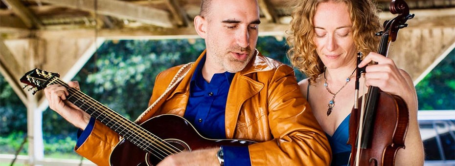 MUSIC | Dan Frechette and Laurel Thomsen flow seamlessly through genres, tempos, stories, and moods, ranging from Folk-Rock, Classical, Old Time, and Celtic, to Gospel, Jazz, Vintage Country, Rock n