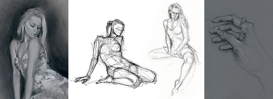 VISUAL | Beginner Figure Drawing Class - Online - Join this 5-week, online figure drawing class for the beginner discussing proportions, gesture drawing, and achieving life-like figures.