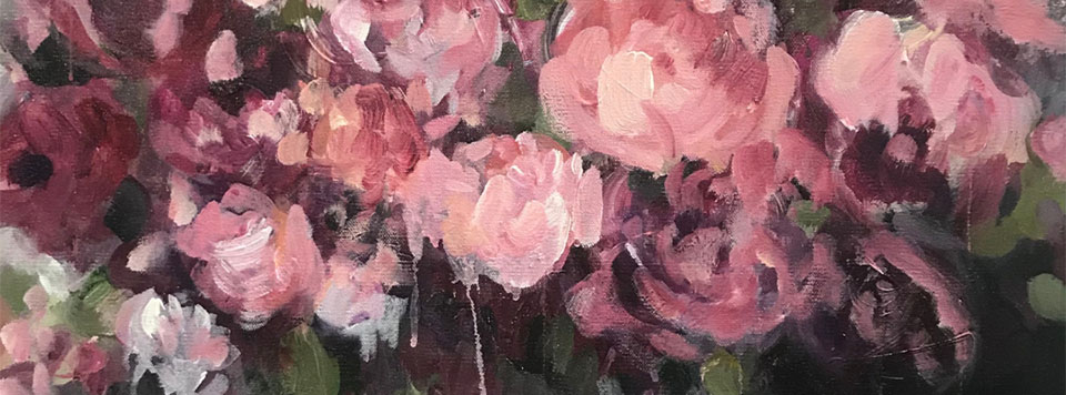 Layers of Pink Flowers