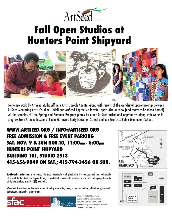 Fall Open Studios Flyer 2013