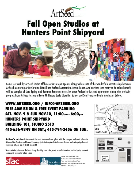 Fall Open Studios Flyer 2013
