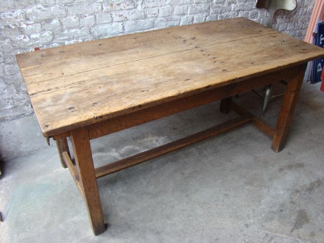 Ancienne Table De Ferme Boucher Artsenick