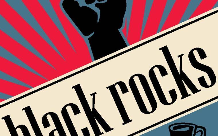 Logo Black Rocks - Λογότυπο Black Rocks στην Αράχωβα