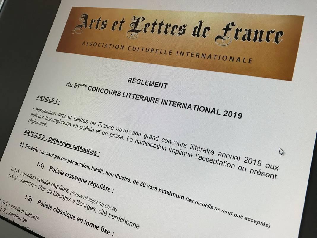 Concours Littéraire International 2019 Arts Et Lettres De