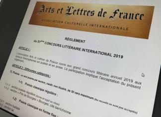 Concours Littéraire International 2019