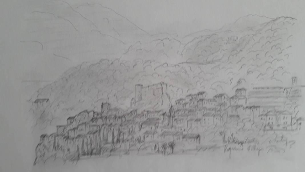 Christian Bruley - Roquebrune Village 24 x 31