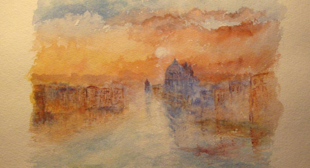 Christian Bruley - aquarelle Venise 23X17