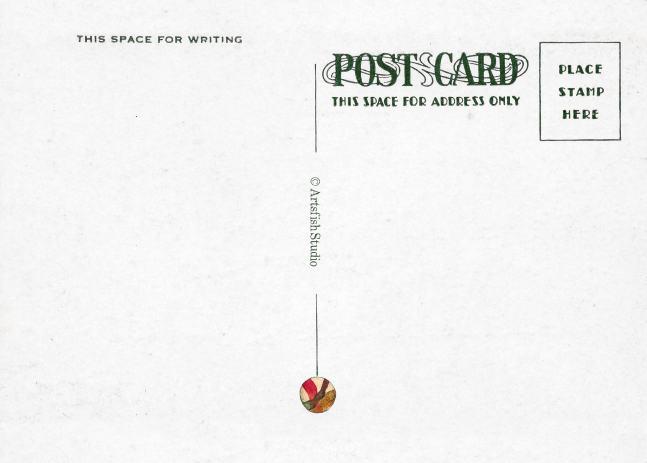 Vintage postacard design, reverse