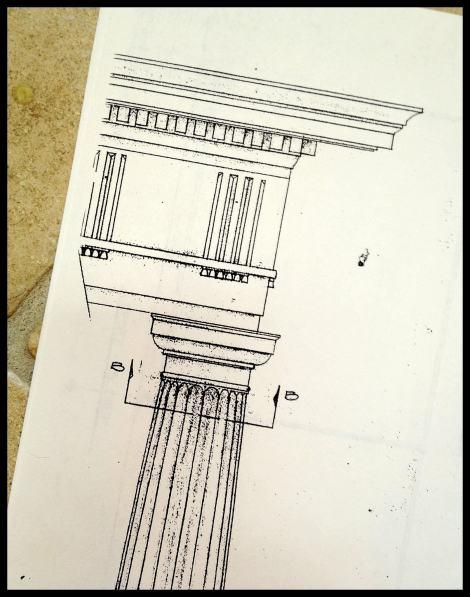 Drafting, entasis of a Roman column