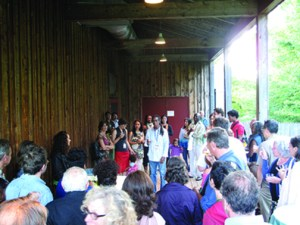 Artist David Rousseve meets MAPP Cultural Investors following his show, Saudade at Jacob's Pillow in Lee, MA.