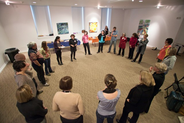Teachers and Docents connect at the Portland Art Museum