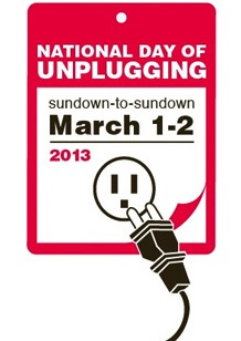 The National Day of Unplugging calls for turning off digital devices.