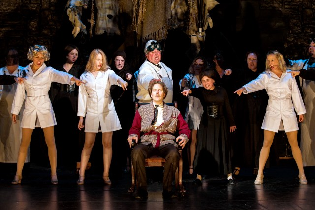 "Beck Center's Professional Theater program performs ""Young Frankenstein;"" image courtesy of Wetzel Studios."