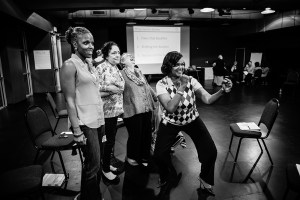 "Winston-Salem Lab champions perform skits on ""Seeing the System"""