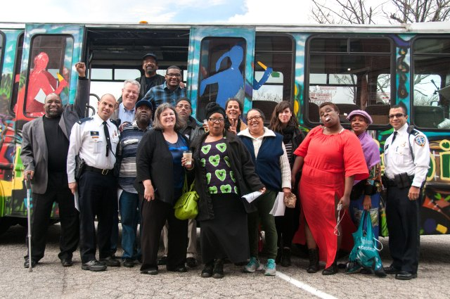 Lab participants in Providence, RI on a learning journey to visit local youth organizations