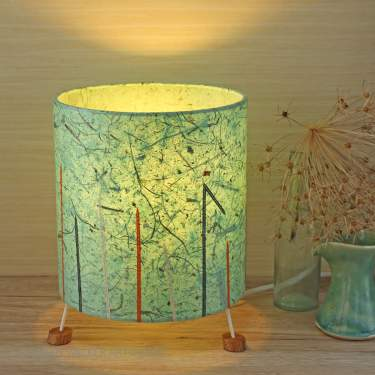Mint green lamp