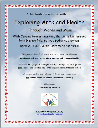 Exploring Arts & Health through Words & Music