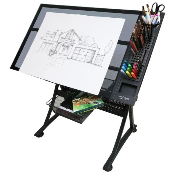 Mont Marte Creative Art Craft Station Table - Glass Top