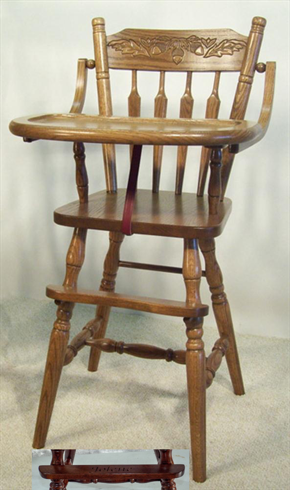 Amish Wooden High Chair
