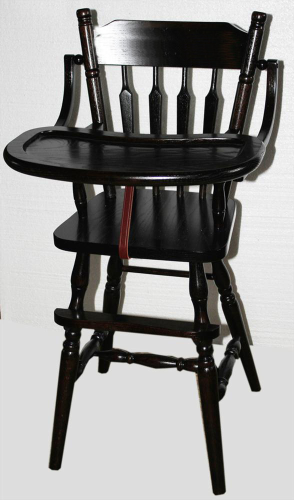 chair lift design tilt in space shower baby furniture-wood high chair-amish-acorn design-oak-delivery included