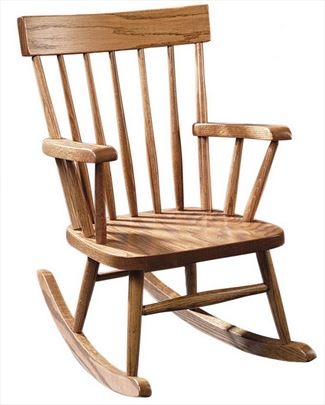 children rocking chairs folding lounge outdoor amish for kids furniture chair oak or cherry curved comback