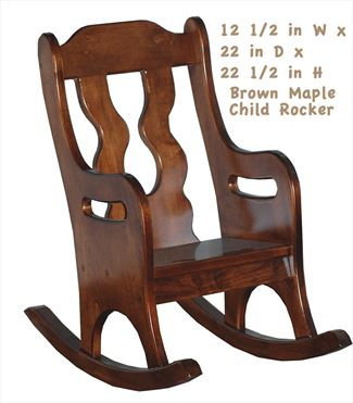 what is a rocking chair nautica beach chairs amish for children kids child handmade all wood rocker hardwood