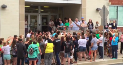 Students protest before June 27 Board meeting
