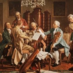 Joseph Haydn performs string quartets