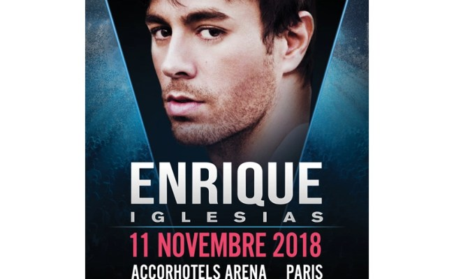 Enrique Iglesias All The Hits Live à L Accorhotels Arena