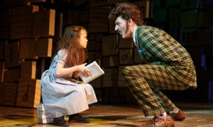 Oona Laurence in Matilda at the Sam S Shubert theatre