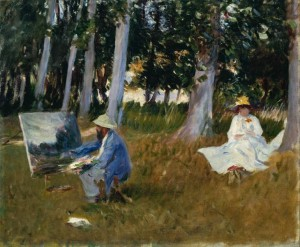 Claude Monet Painting by the Edge of a Wood ?1885 John Singer Sargent 1856-1925 Presented by Miss Emily Sargent and Mrs Ormond through the Art Fund 1925 http://www.tate.org.uk/art/work/N04103