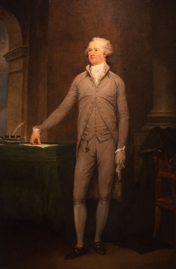 "John Trumbull, ""Portrait of Alexander Hamilton,"" 1792, gift from Credit Suisse to Crystal Bridges and Metropolitan Museum"