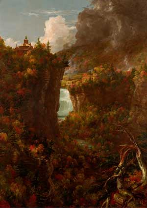 """Thomas Cole, ""Portage Falls on the Genesee,"" 1839"