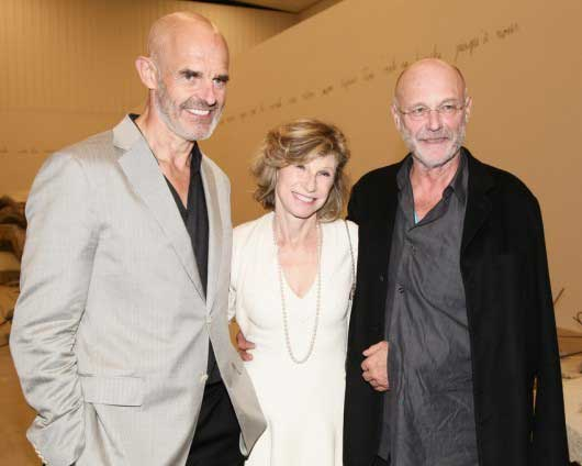 L to R: Collectors Andrew and Christine Hall, artist Anselm Kiefer Photo from MASS MoCA