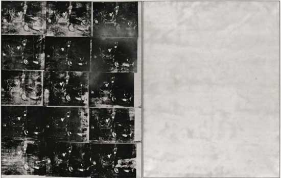 """Andy Warhol, """"Silver Car Crash (Double Disaster),""""  Presale estimate: in excess of $60 million Image Courtesy Thomas Ammann Fine Art AG"""