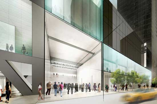 Concept sketch of MoMA's proposed new 53rd Street façade © 2014 Diller Scofidio + Renfro