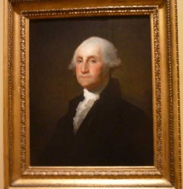 "Whither George? Gilbert Stuart, ""George Washington,"" c. 1803, Corcoran Collection Photo by Lee Rosenbaum"