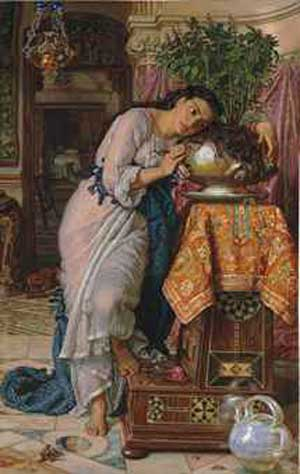"William Holman Hunt, ""Isabella and the Pot of Basil""  Sold at Christie's London for £2.88 million ($4.89 million)"