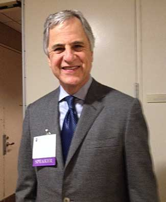 Richard Levin at the NYU art-law conference Photo by Lee Rosenbaum