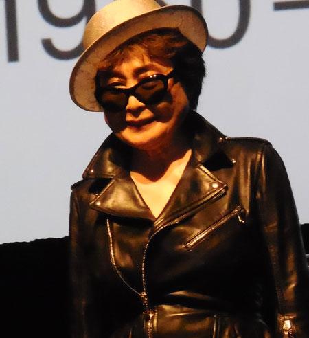 Yoko Ono at MoMA press preview Photo by Lee Rosenbaum