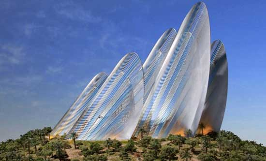 Rendering of Zayed National Museum, designed by Norman Foster